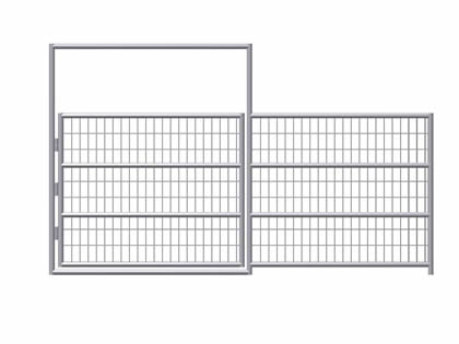 A drawing of all welded horse panel gate on the white background.
