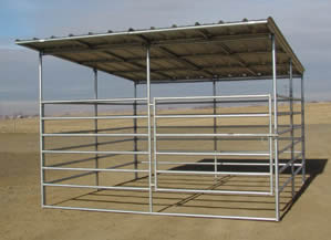 Steel horse panels with shelter
